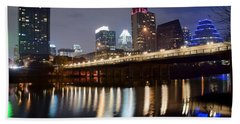 Austin From Below Beach Towel by Frozen in Time Fine Art Photography