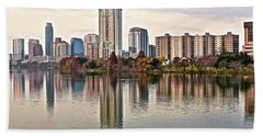 Austin Wide Shot Beach Towel by Frozen in Time Fine Art Photography