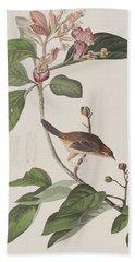 Bachmans Sparrow Beach Towel by John James Audubon