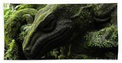 Bali Indonesia Lizard Sculpture Beach Sheet by Bob Christopher