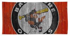 Baltimore Orioles Graphic Barn Door Beach Towel by Dan Sproul