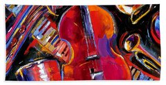 Bass And Friends Beach Towel by Debra Hurd