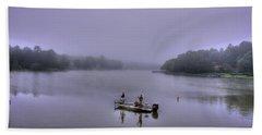 Bass Masters Lake Oconee Fishing Art Beach Towel by Reid Callaway