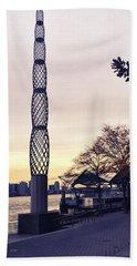 Battery Park City, New York Beach Towel by Sandy Taylor