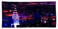 Beautiful Manhattan Skyline Beach Sheet by Az Jackson