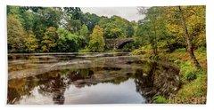 Beaver Bridge Autumn Beach Towel by Adrian Evans