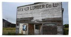 Beaver Lumber Company Ltd Robsart Beach Towel by Bob Christopher