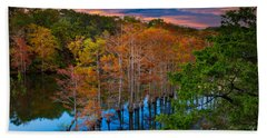 Beavers Bend Twilight Beach Towel by Inge Johnsson