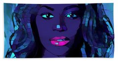 Beyonce Graphic Abstract Beach Towel by Dan Sproul
