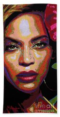 Beyonce Beach Towel by Maria Arango