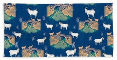 Billy Goat Gruff Beach Towel by Beth Travers
