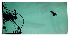 Bird City Revisited Beach Towel by Trish Mistric