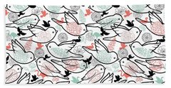 Bird Solid Beach Sheet by Elizabeth Taylor