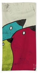 Birdies - V101s1t Beach Towel by Variance Collections