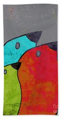 Birdies - V11b Beach Towel by Variance Collections