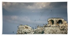 Birds Island Beach Sheet by Joana Kruse