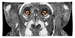 Black And White Art - Monkey Business 2 - By Sharon Cummings Beach Sheet by Sharon Cummings