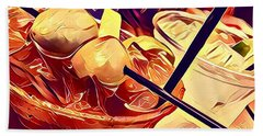 Bloody Mary And Moscow Mule Beach Sheet by Frush Photos