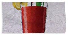 Bloody Mary Emoji Beach Sheet by  Judy Bernier