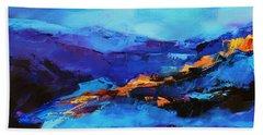 Blue Shades Beach Sheet by Elise Palmigiani