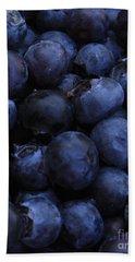 Blueberries Close-up - Vertical Beach Sheet by Carol Groenen