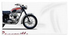 Bonneville T120 1962 Beach Towel by Mark Rogan