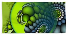 Born To Be Green Beach Towel by Jutta Maria Pusl