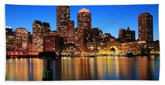 Boston Aglow Beach Towel by Rick Berk