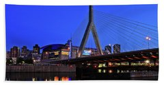Boston Garden And Zakim Bridge Beach Towel by Rick Berk