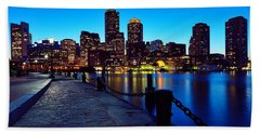 Boston Harbor Walk Beach Towel by Rick Berk