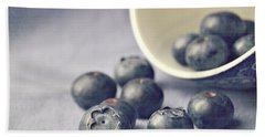 Bowl Of Blueberries Beach Sheet by Lyn Randle