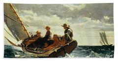Breezing Up Beach Towel by Winslow Homer