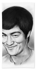 Bruce Lee Beach Towel by Greg Joens