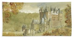 Burg Eltz Castle Beach Sheet by Juan Bosco