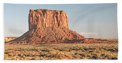 Beach Towel featuring the photograph Butte, Monument Valley, Utah by A Gurmankin