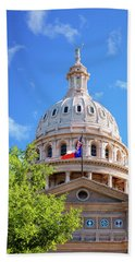 Capitol Of Texas - State Building - Austin Texas Beach Sheet by Gregory Ballos