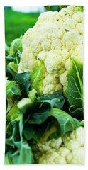 Cauliflower Head Beach Sheet by Teri Virbickis