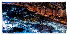 Beach Towel featuring the photograph Central Park by M G Whittingham