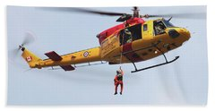 Ch-146 Griffon Of The Canadian Forces Beach Towel by Timm Ziegenthaler