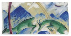 Chamois Beach Towel by Franz Marc