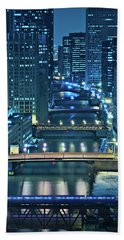Chicago Bridges Beach Towel by Steve Gadomski