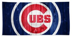 Chicago Cubs Barn Door Beach Sheet by Dan Sproul