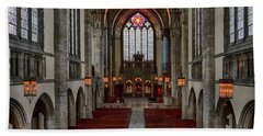 Chicago Rockefeller Chapel Beach Towel by Mike Burgquist