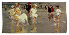 Children On The Beach Beach Towel by Edward Henry Potthast