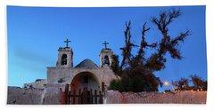 Chiu Chiu Church At Twilight Chile Beach Sheet by James Brunker