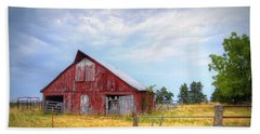 Christian School Road Barn Beach Sheet by Cricket Hackmann