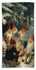 Christmas Gnomes Beach Sheet by English School