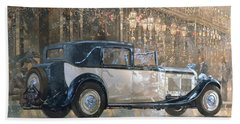 Christmas Lights And 8 Litre Bentley Beach Towel by Peter Miller