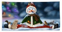 Christmas Party Beach Sheet by Veronica Minozzi