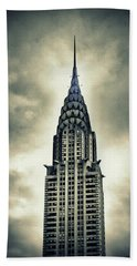Chrysler Building Beach Towel by Jessica Jenney